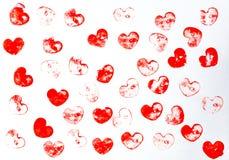 Herzform-Hintergrundmuster lizenzfreies stockbild