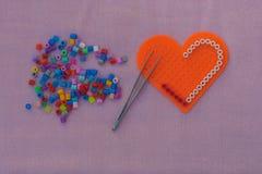Herzform-Pixelkunst Lizenzfreie Stockbilder