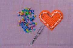 Herzform-Pixelkunst Lizenzfreie Stockfotografie