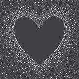 Herzform-Schneerahmen mit leerem Raum für Ihren Text Stockfoto