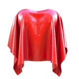 Herzform umfasst mit dem roten silk Stoff lokalisiert auf weißem backgr Stockbild