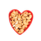 Herzform vom Acajoubaum Getrennt Lizenzfreie Stockfotos