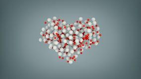 Herzform von den bunten Bällen 3D übertragen Illustration lizenzfreie abbildung