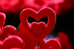 Herzformdesign Stockbild