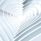 Herzformzahl Zusammenfassungshintergrund Lizenzfreies Stockbild