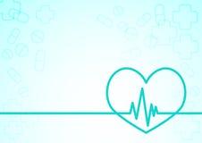 Herzfrequenzlinie Hintergrund Lizenzfreie Stockfotos
