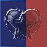 Herzglassammlung Lizenzfreies Stockbild