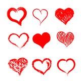 Herzhand gezeichnet Stockfotografie