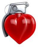 Herzhandgranate Lizenzfreie Stockbilder