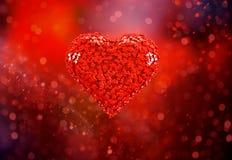 Herzhintergrund im Rot 3d lizenzfreie abbildung