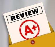 Herzie A plus de Classificatieevaluatie van de Schoolrapport Grote Score stock illustratie