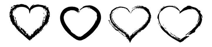 Herzikonenvektor Rot stieg auf weißen Hintergrund Tageszeichen des Valentinsgruß-s stockfotografie