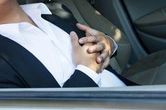 Herzinfarkt im Auto Lizenzfreies Stockbild