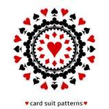Herzkarten-Klagenschneeflocke Lizenzfreie Stockbilder