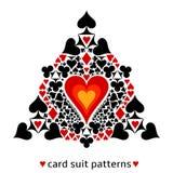 Herzkarten-Klagenschneeflocke Stockfoto