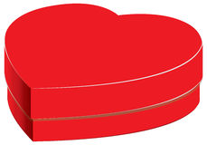 Herzkasten und helles Geschenk lokalisiert auf weißem Hintergrund Valentinsgrußes und Hochzeitstag in Feiertage Vektorgeschenkbox Lizenzfreies Stockfoto