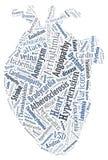 Herzkrankheit Kardiovaskuläre Krankheit Inneres von Wörtern Arrythmia lizenzfreie stockbilder