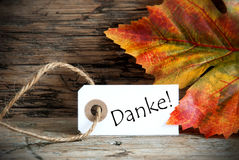 Herzlich Willkommen on Fall Label Royalty Free Stock Photo