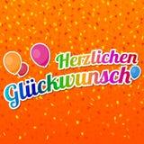 Herzlichen Glückwunsch - Happy Birthday Card Vector. Herzlichen Glückwunsch - Happy Birthday Card Vector for Birthday and Party Royalty Free Stock Photos