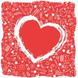 Herzliebe - Gekritzelsammlung Stockfotos