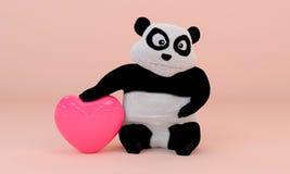 Herzliebe und -liebhaber für Wiedergabe des Valentinsgrußes 3D Stockfoto