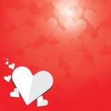 Herzliebesvalentinsgrußvektor-Hintergrund bokeh Lizenzfreie Stockfotografie