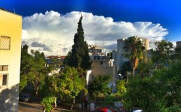 Herzliya, Israel. Amazing Storm cloud in middle of Israel royalty free stock photo