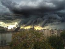 Herzliya, Israel. Storm cloud in middle of Israel Royalty Free Stock Photo