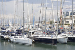 Herzliya yachtklubba Arkivfoton