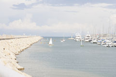 Herzliya yachtklubba Royaltyfri Fotografi