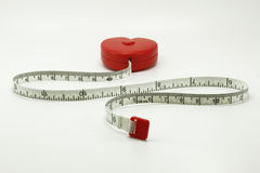 Herzmaßband Lizenzfreie Stockbilder