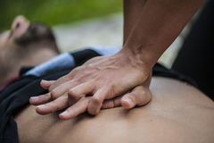 Herzmassage Stockfoto