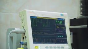 Herzmonitor im Operationsraum stock footage