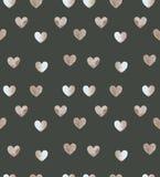 Herzmuster auf kakifarbigem Farbhintergrund Lizenzfreies Stockfoto