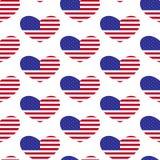 Herzmuster der amerikanischen Flagge Lizenzfreie Stockfotos