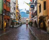 Herzog Friedrich Strasse and Golden Roof Royalty Free Stock Photography