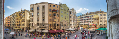 Herzog Friedrich Street in Innsbruck, Austria. Stock Photo
