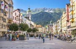 Herzog-Friedrich Street view, Innsbruck, Austria Royalty Free Stock Photo