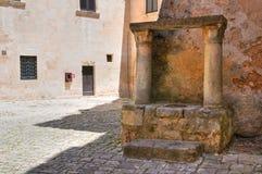 Herzogliches Schloss. Ceglie Messapica. Puglia. Italien. Stockbild