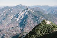 Herzogstand che guarda verso Monaco di Baviera nelle alpi Immagini Stock