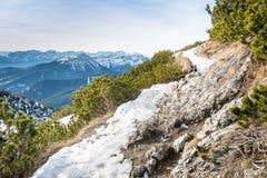 Herzogstand nelle alpi della Baviera Germania Fotografia Stock Libera da Diritti