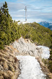 Herzogstand nelle alpi della Baviera Germania Fotografie Stock Libere da Diritti