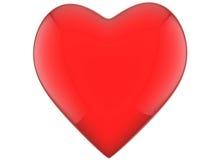 Herzrot mit Reflexionen Stockbild