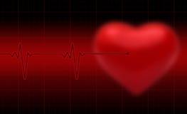 Herzschlag Desgn Stockbild