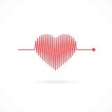 Herzschlag mit Herz-Form Stockfotos