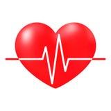 Herzschlagzeichen, medizinisches Kardiogramm Stockfotos