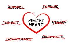 Herzsymbol auf dem whiteboard Stockfotos