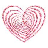 Herzsymbolvektor Lizenzfreies Stockbild
