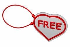 Herztag mit Wort geben frei Lizenzfreies Stockbild