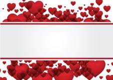 Herzvalentinsgruß-Grußkartenvektor Stockfotos